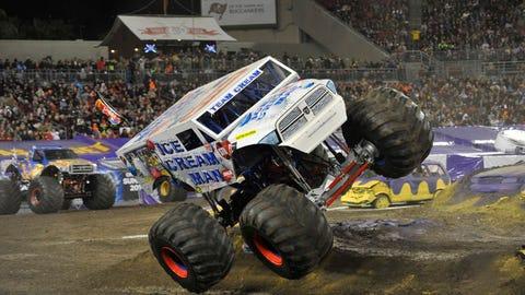 Monster Jam racing in Tampa, FL: Ice Cream Man
