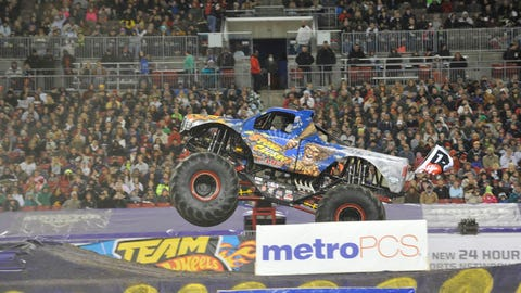 Monster Jam racing in Tampa, FL: Stone Crusher