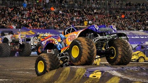 Monster Jam racing in Tampa, FL: War Wizard