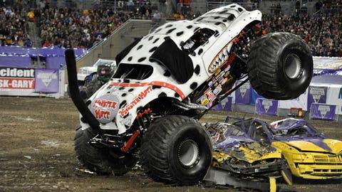 Monster Jam freestyle in Tampa, FL: Monster Mutt® Dalmatian