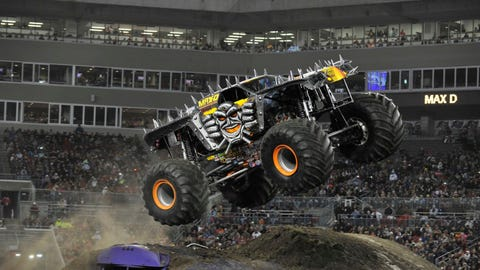 Monster Jam freestyle in Tampa, FL: Max-D (SM)