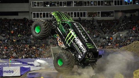 Monster Jam freestyle in Tampa, FL: Monster Energy