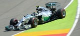 Rosberg captures pole for home race as teammate Hamilton crashes out