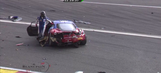 Multiple large shunts early on in 24 Hours of Spa (Video)