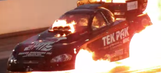 Watch two minutes of NHRA dragsters exploding in slow motion