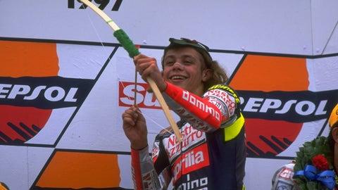 Rossi's wildest post-race celebrations
