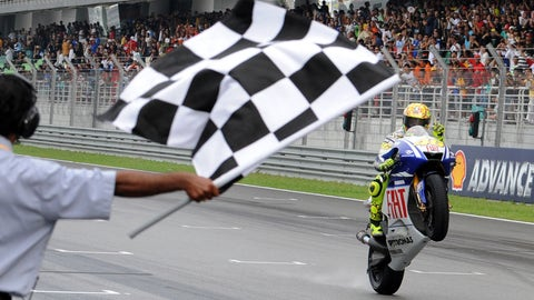 Rossi's wildest post-race celebrations