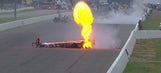 NHRA: Watch as both dragsters flip in separate crashes in Brainerd