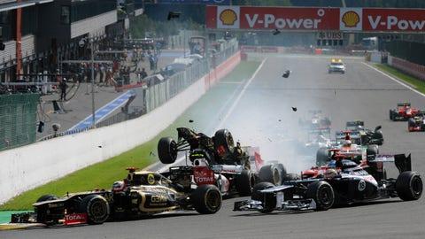 2012 Belgian GP start crash
