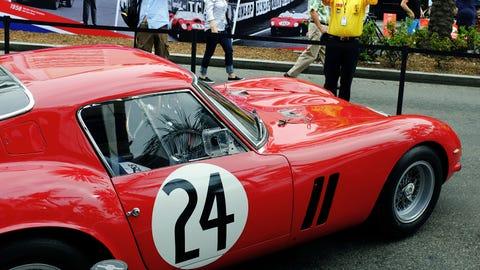 Ferraris on display in Beverly Hills