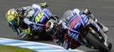 Lorenzo vs Rossi battle for second in the championship rages on