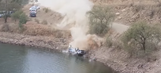Ride onboard rally car as it goes for a swim