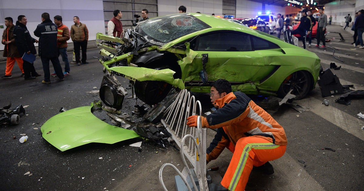 Lamborghini Ferrari Involved In Drag Racing Crash In