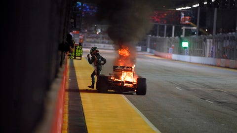 PHOTOS: Famous fires in Formula One
