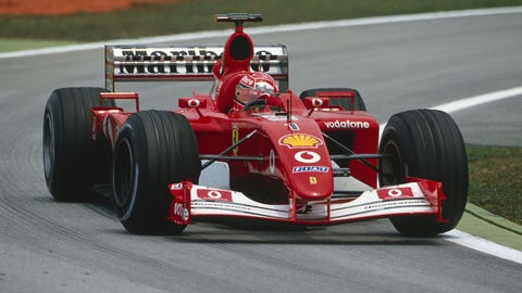 2. Ferrari - 2002 - 88% of wins