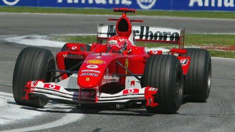 6. Ferrari - 2004 - 83% of wins