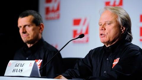 2014, Haas announces he'll start F-1 team