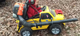 Pure genius: Parent attaches leaf blower to son's Power Wheels car