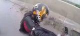 Twelve wild rides of 2015: Biker saves female passenger during crash