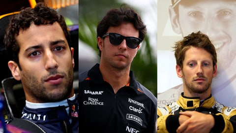 9. Daniel Ricciardo/Sergio Perez/Romain Grosjean: 40%