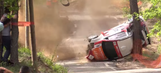 Twelve wild rides of 2015: Rally car crashes roof-first into tree