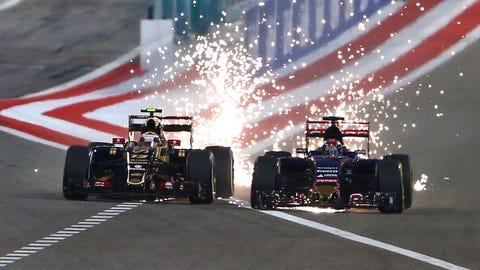 Bahrain - Maldonado vs. Verstappen