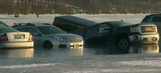 Don't park there! 15 cars fall through ice at 2016 Winterfest