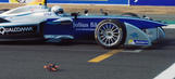 The Chase: Watch Formula E car, racing drone take to the circuit