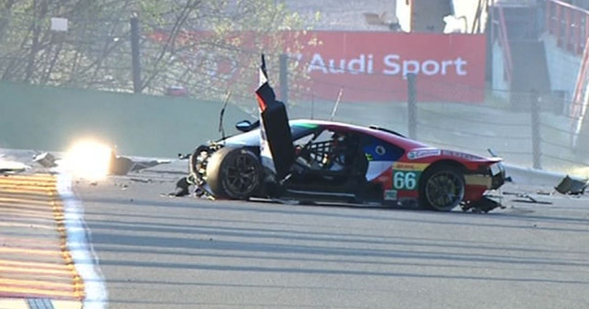 Ford Gt Driver Conscious After Vicious Crash In Six Hours Of Spa Fox Sports