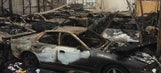 Car warehouse next to pot-growing operation damaged by fire