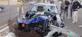 Camaro driver stuffs car into fence leaving Cars and Coffee meetup