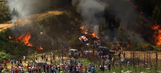 Video compilation shows timeline of events in fiery rally crash