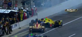 Top contenders involved in crash on pit road at Indy 500