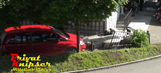 This hillclimb driver crashes into a parked car before Turn 1