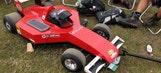 Fans bring solar-powered Ferrari beer cooler to British GP