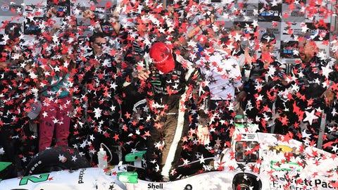 Simon Pagenaud championship celebration
