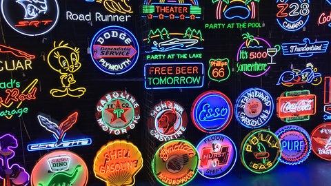 Neon garage