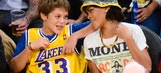 Sorry, kid: Rihanna's got her eyes on another Laker jersey
