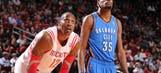 Dwight Howard fell victim to Kevin Durant's monster slam