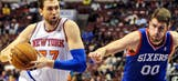 Knicks' Bargnani out vs. 76ers with strained right calf