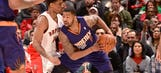 Suns end Raptors' home winning streak with big help from the bench