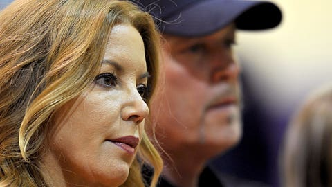 Jeanie Buss, Jim Buss, owners, Los Angeles Lakers