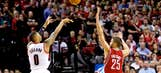 Watch Damian Lillard's series-ending shot against the Rockets from a new angle