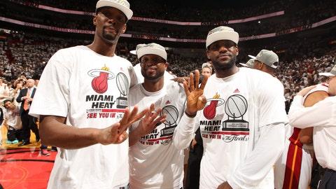 The rumored LeBron/Dwayne Wade/Chris Bosh pact