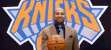 Knicks introduce Fisher as Jackson's hand-picked coach
