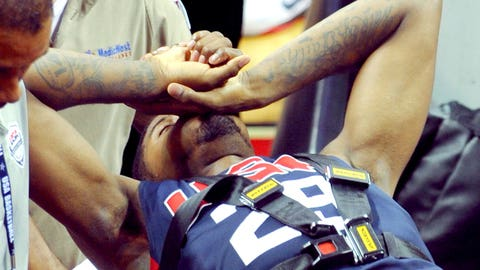 August runner-up: Aug. 1 – Paul George breaks leg competing for Team USA