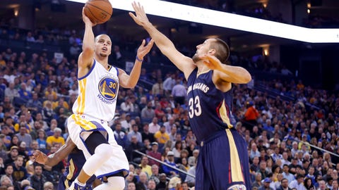 No. 1 Golden State Warriors vs. No. 16 New Orleans Pelicans