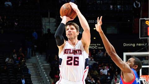2. Kyle Korver, SG, Atlanta Hawks
