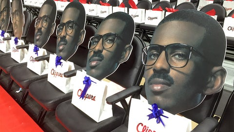 If you asked Santa for a giant CP3 head cutout . . .