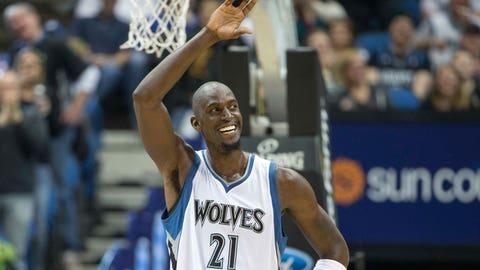 Kevin Garnett, 38, Minnesota Timberwolves